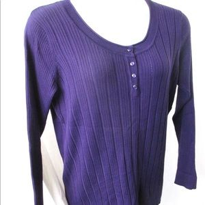 Just My Size Sweater Sz 2X Purple Pullover